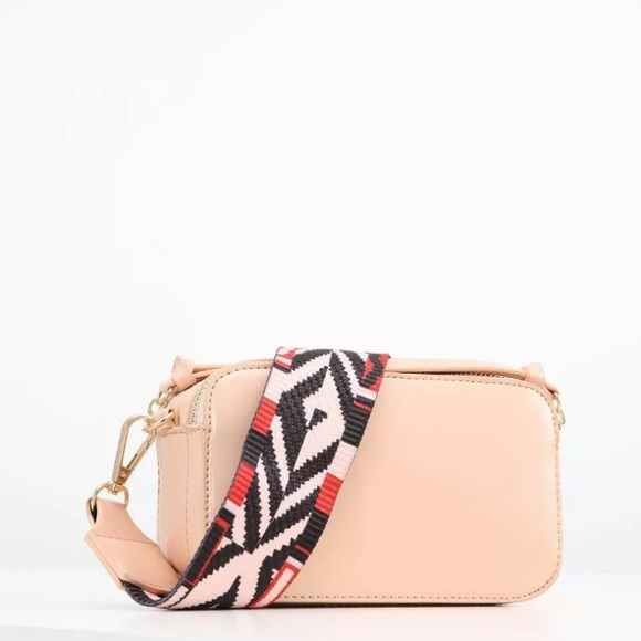 87c06dffe8 Women s NEW Nude Blush Guitar Strap Crossbody Bag. NWT. Missguided